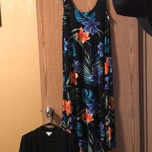 Multi color dress with cover